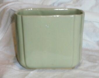 Vintage Sage Green Vase
