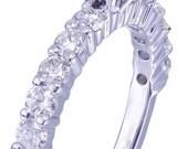 18K White Gold Round Cut Diamond Engagement Ring Deco Prong 2.10ctw I-VS2 EGL US