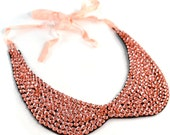 Peach Collar Necklace Sequin Accessory