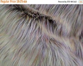 48 HOUR SALE Beige with speckel colors Faux Fur CRAFT Size