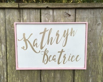 Personalized Name, Girls Bedroom,Nursery Name Sign