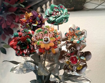 Recycled Flower Bouquet Wedding Home Decor Floral Party Decorations Table Arizona Tea