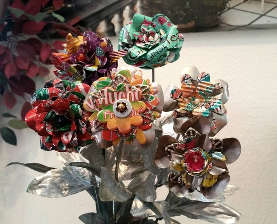 Recycled Flower Bouquet Wedding Home Decor Floral Party
