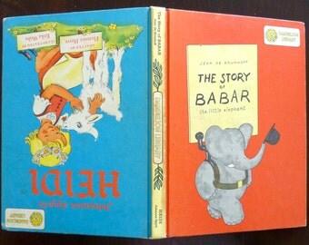 Vintage Children's Book - HEIDI by Johanna Spyri & The Story of BABAR the Little Elephant (1960)