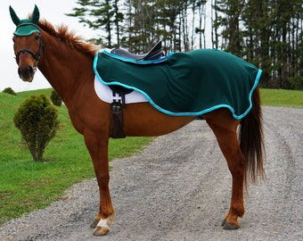 Custom Horse Blanket -Fleece Light Quarter Sheet, Choose your size and finishes, by Sew Custom Deigns