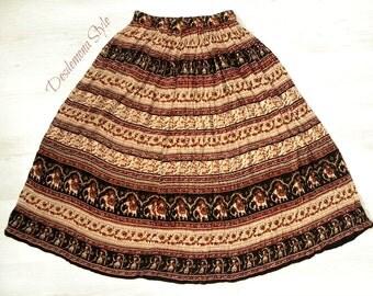sale Vintage Indian boho Skirt one size long paisley hippie festival gypsy southwestern gauze dress ethnic