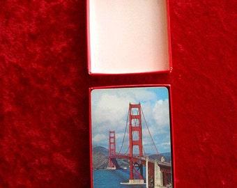 "GOLDEN GATE BRIDGE San Francisco  Playing cards Vintage  2 3/8"" x  3 58"" Complete Deck"