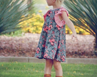 Little Debbie - a comfy back to school dress with stretch and style. Made to order