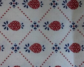 Pineapple Decorator Print Waverly Cotton Fabric 2 2/3 Yards X0453