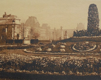 Jardin de Tuileries, Paris, France - Unused Postcard