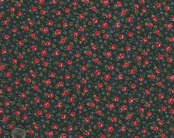 Vintage Black Calico Fabric (1 yard)