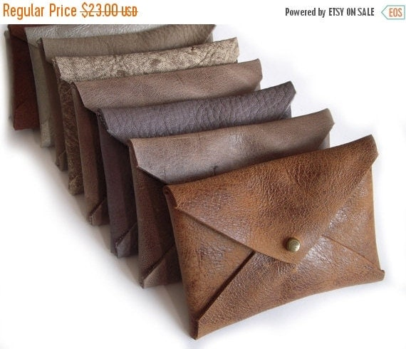 Summer SALE, Men's wallets, Business Card Leather Holder, Envelope Card Case, small wallet, leather card holder credit card case, gift for h