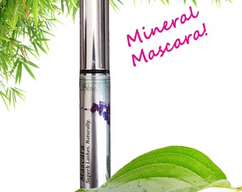 Mineral Mascara - Natural - Organic Ingredients - Lengthen & Thicken - Black - Non Toxic