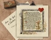 Velveteen Rabbit Handmade Seeded Paper Card.