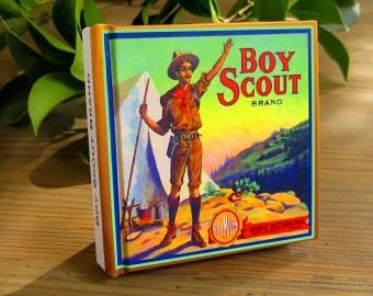 Small Journal - Boy Scout Brand - Fruit Crate Art Print Cover