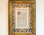 Vintage Framed Irish Blessing Wall Hanging, Florentia Hand Made in Italy