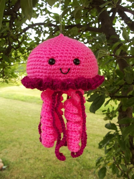 Crochet Sea Life Amigurumi : Amigurumi Crochet Jellyfish Crochet Sea Life Ocean Animals
