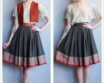 1950s Skirt // Indian Summer Skirt // vintage 50s skirt