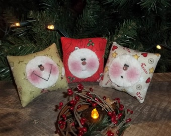 Handmade Bowl Fillers Pillows Snowman Country Christmas