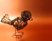 Black Copper Wire Bird Sculpture