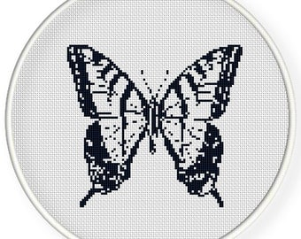 Instant  Download,Free shipping,Cross stitch pattern, Crossstitch PDF/JPEG,vintage butterfly,zxxc0919