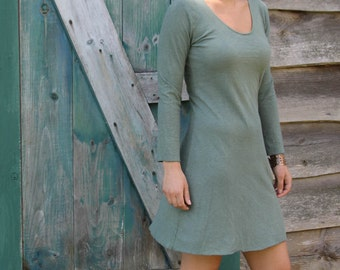 Farmhouse Dress-Organic Cotton and Hemp-Short Length