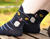 Black Striped Cat Socks