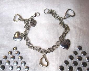 Open Heart Charm Bracelet