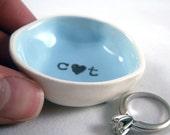 handmade ceramic CUSTOM ENGAGEMENT GIFT for her custom wedding ring holder gift for wife gift for girlfriend gift for boyfriend gift for him
