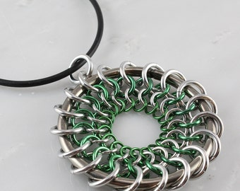 Chain Maille Dream Catcher Pendant -Necklace Included-