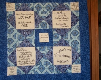 Mother quilted wall hanging