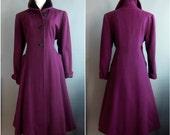hold for merja on layaway 1950s purple coat plus size princess coat XL wool princess coat 2 of 2