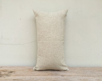 "100% Hemp Textile Decorative Pillow Natural Hemp Woven Eco Friendly Pillow Case 12"" x 22"""