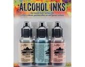 Lakeshore Alcohol Ink Kit - Sandal, Aqua, Salmon Tim Holtz Alcohol Inks Set