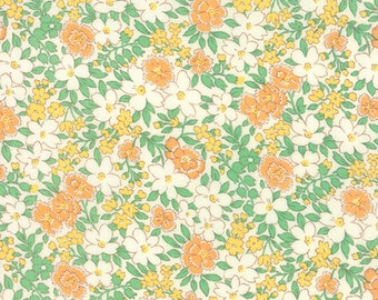 30's Playtime - Blossoms in Apricot by Chloe's Closet for Moda Fabric