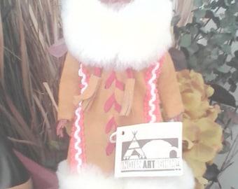 """Vintage Indien art Eskimo doll 12"""""""