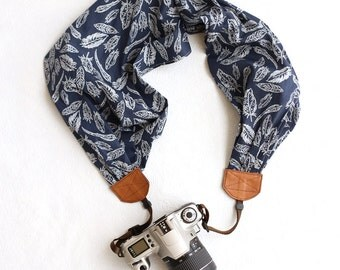 free as a bird scarf camera strap