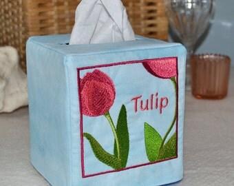Tulip Square Tissue Box Cover