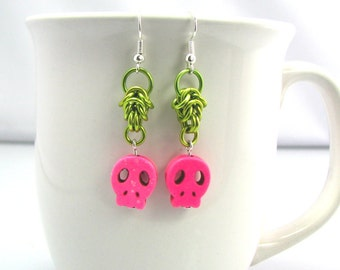 Skully Chainmaille Earrings