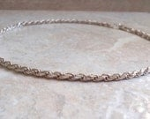 Sterling Rope Chain Silver 16 Inch 3.7mm Italian Vintage CW0299