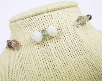 Mixed Media Beaded Bracelet - Glass Crystal Aventurine - TRISTA