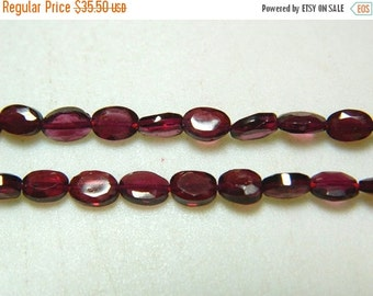 51% ON SALE Oval Shaped Garnet Beads, Faceted Garnet Beads, 4x6mm Beads, 14 Inch Strand