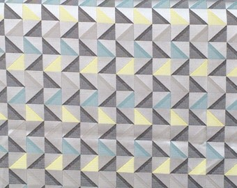 Grey And Yellow Geometric Triangle Curtain Fabric By The Yard Upholstery Fabric Wholesale Drapery Fabric Window Treatment Fabric Sofa Fabric