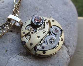 Steampunk Industrial Watch Movement Necklace A 37