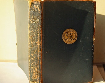 Leather bound The Red Lily by Anatole France 1927