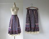 vintage 1970s skirt / Gunne Sax skirt