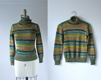 vintage 1970s sweater / 70s sweater / Electric Company