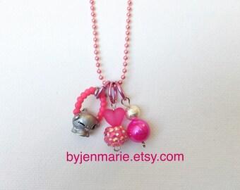Shopkin Charm Necklace Pink Jules Season 4