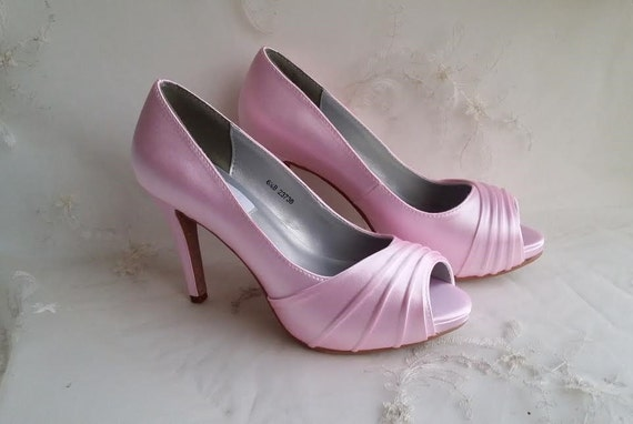 items similar to pink wedding shoes pink bridal shoes pink