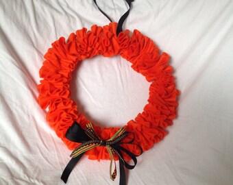 Wreath orange holiday fall felt wreath 12 inch